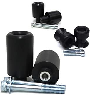 2009-2011 Suzuki GSXR1000 Black Complete Frame Slider Kit; Includes: Frame Sliders, Swing Arm Spools and Bar Ends - 755-5339 - MADE IN THE USA