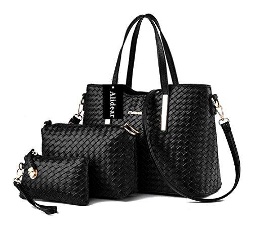 Alidear Neue Marke und Qualität 2016 Neue neue Welle Paket Kuriertasche Damen weiblichen Beutel Handtaschen für Frauen Handtasche Schwarz