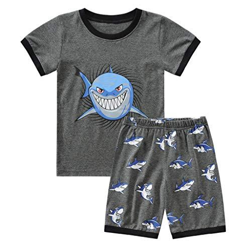 Realde Baby Kleinkind Jungen Mädchen Tops +Hosen Set O-Ausschnitt Kurzarm T-Shirt Mode Drucken Oberteile Outfit Kleider Babykleidung Set Grün, Rot, Blau