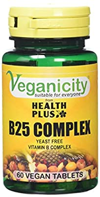 Veganicity B25 Complex Energy and General Well Being Supplement 60 Tablets