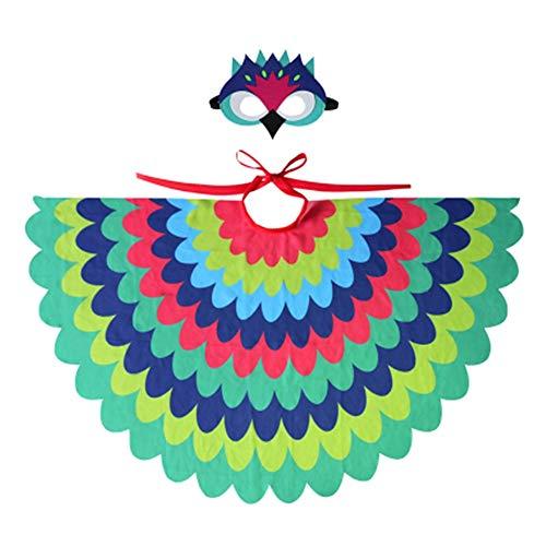CHAOZHENG Traje de máscara de búho con alas de pájaro Niño Niña de Halloween Disfraz de Animal Noche Niño Regalo Niño