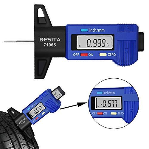 BESITA Digital Tire Tread Depth Gauge