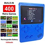 Mini Retro Handheld FC Games Consoles ,Built-in 400 Classic Game, Portable Gameboy 3 Inch LCD Screen TV Output ,Good Gifts for Kids Boys Girls Men Women (Games Consoles Blue)