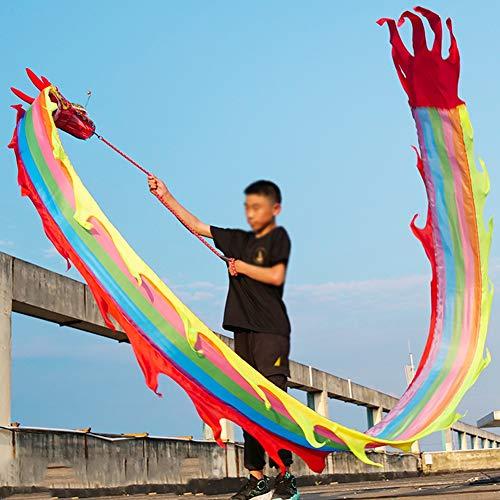 HGFDSA Juguetes para niños, Juguetes para Festivales y Celebraciones, Cintas Suaves de Colores de la Suerte, Cintas para Principiantes, Cintas para niños para Bailar,Rainbow,3M