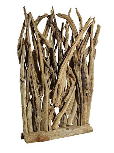 Vintage-Line Raumteiler Wohndekoration Skulptur aus Teak-Treibholz/Teakholz ca. 142x100x17 cm