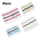 SOLOOP 50pcs Conectores Termocontraibles Terminales de Cable Impermeable Soldadura Sello