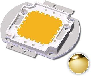 High Power Led Chip 50W Warm White (3000K-3500K/Input 1750mA/DC 30-34V/50 Watt) Super Bright Intensity SMD COB Light Emitter Components Diode 50 W Bulb Lamp Beads DIY Flood Security Lights