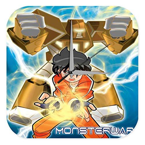 LEotiE SINCE 2004 Horloge Murale Cartoon Art Amusant Marke Guerre Manga Robot Monster Imprimee 25x25 cm