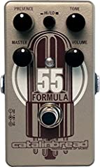 Next-generation 5E3 Tweed Deluxe inspired Foundation Overdrive with incredible range - from Grant Green to Crazy Horse! The Formula No. 55 is a Foundation Overdrive that reproduces, in exacting detail, the preamp section of the classic Fender tweed 5...