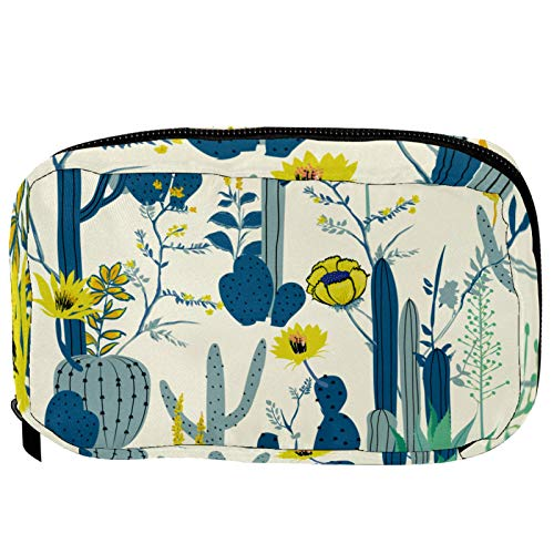 Small Cosmetic Bag for Handbag, Makeup Bag Pouch Cosmetic Beauty Bag Travel Toiletry Wash Bag Pencil Bag Coin Purse Zipper Pouch, Cactus Plant Tree Pattern