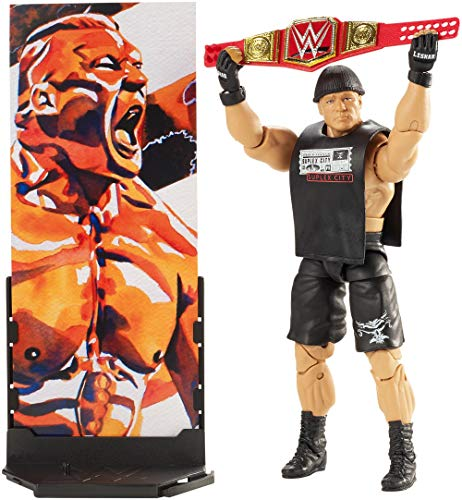 Mattel FMG35 - WWE Brock Lesnar 15 cm Elite Actionfigur, Spielzeug Actionfiguren ab 6 Jahren