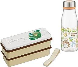 Studio Ghibli Tonari no Totoro - Japanese Bento Box Lunch Box 2 Tiers Set - Water Color (Totoro Bento & Bottle Water Color)
