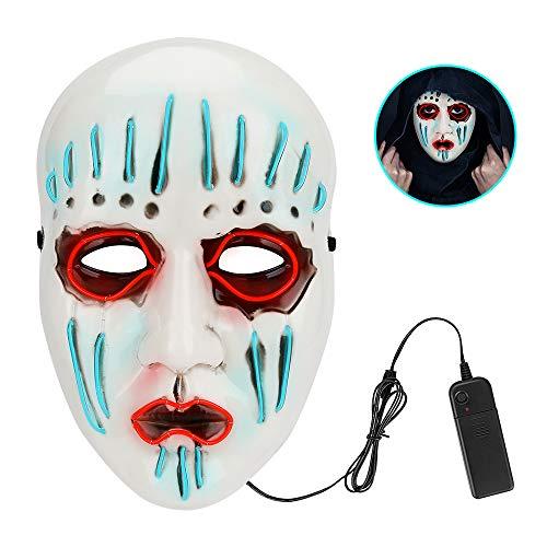 Achort LED Maske Purge Maske mit 3 Blitzmodi für Halloween Fasching Karneval Party Kostüm Cosplay Dekoration Halloween Gruselige Maske