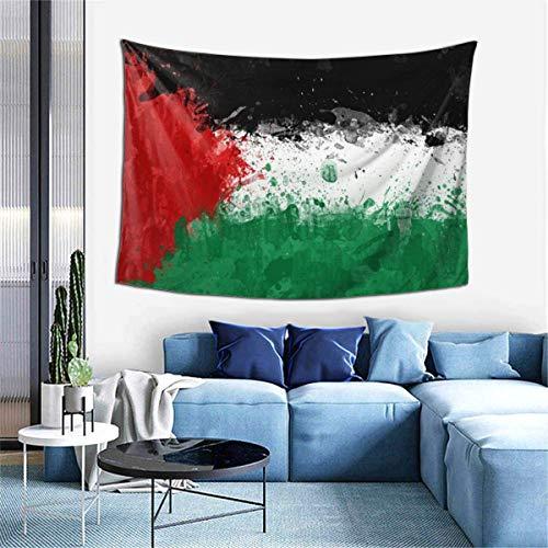 N\A Tapiz Colgante de Pared, tapices de Bandera de Palestina para Dormitorio, Sala de Estar, Dormitorio, Manta de Pared, Toallas de Playa, decoración del hogar