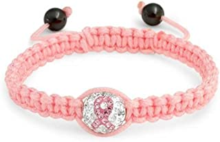 Bling Jewelry Pink Lazo Sobreviviente del Cáncer Pave