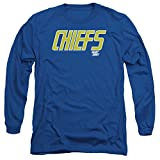 Slap Shot Hockey Comedy Sports Movie Chiefs Logo Adult Long Sleeve T-Shirt
