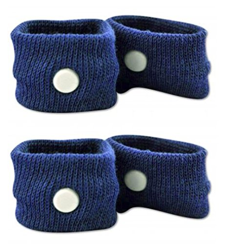 Anti-Nausea Wristbands by Prime Time Direct for Motion Sickness, Acupressure, Travel Bands - Blue (Pack of 2)
