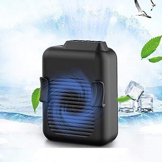 YChoice365 Ventilador con Clip portátil Ventilador portátil con Manos Libres Cintura Ventilador con Collar USB Dispositivo portátil con Pilas Ventilador