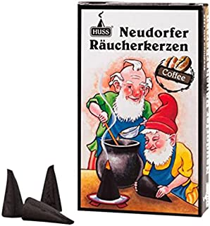 HUSS Incense Cones for German Incense Smoker - Coffee - Eco-Friendly Handmade in Germany