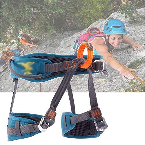 ZWWZ Sicherheitsgurt, Halbkörper Fall Protection Outdoor-Klettern Felsklettern und Eisklettern 3-Punkt-Adjustment hochbelastbaren atmungsaktiv und komfortabel HAIKE (Color : Blue, Size : 65)