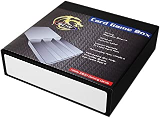 3 Row - Black with White Game Card Box
