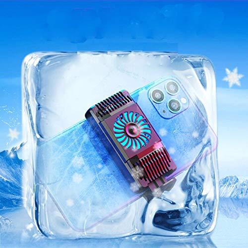 JZH-Light Handy Kühler Gaming Universal Telefon Kühler Tragbare Stumm Fan Kühlung Kühlkörper Für Xiaomi iPhone Samsung Huawei,Schwarz