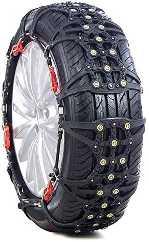 GJNVBDZSF Antideslizante para neumáticos, portátil, fácil de Montar, tracción de Emergencia, Cadenas de neumáticos de Nieve para Coche, universales para neumáticos, Antideslizante para Coche, Emergen