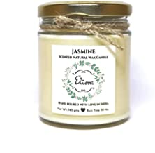Eliora Glass Jasmine Scented Natural Wax Candle (Ivory)