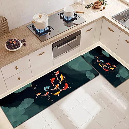 WESG Tappetini Antiscivolo per Cucina, zerbini per Decorazioni per la casa per Soggiorno e Camera da Letto, tappeti assorbenti per Bagno No.10 40X60cm