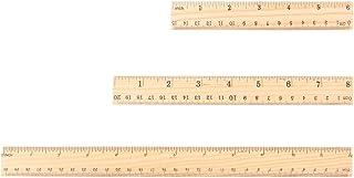 Lunji 3pcs Règle en Bois - Double Faces Outil de Mesure 30/20/15cm