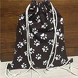 Mnbvcxzey Cotton Linen Drawstring Travel Backpack Book Shoes Bag