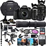 Canon EOS 80D DSLR Camera with 18-135mm Lens, 50mm f/1.8, Tamron 70-300mm Lenses + 420-800mm Zoom Tele Lens + 5 Photo/Video Editing Software Package & Professional Accessory Kit