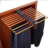XIA-YGKJ Armario de Rod Pantalones, Sacar los Pantalones del Estante con la compuerta, del Lazo del sostenedor del Carril para la Profundidad de 48cm Gabinete, Organizador del estante-20 Pares A