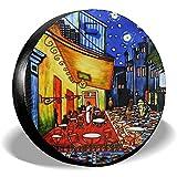 Fall Ing Copertura per Pneumatici Van Gogh Cafe Terrace At Night Copertura per Pneumatici di scorta Adatta per rimorchio, Camper, SUV, Ruota per Camion