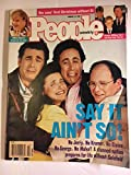 Cover portrait of Jerry Seinfeld with Elaine, George and Kramer marking the last show of Seinfeld. People Weekly (January 12, 1998)