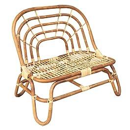 Bambees Collection Petit banc en rotin authentique fait à la main pour chambre d'enfant, salon ou chambre d'enfant…