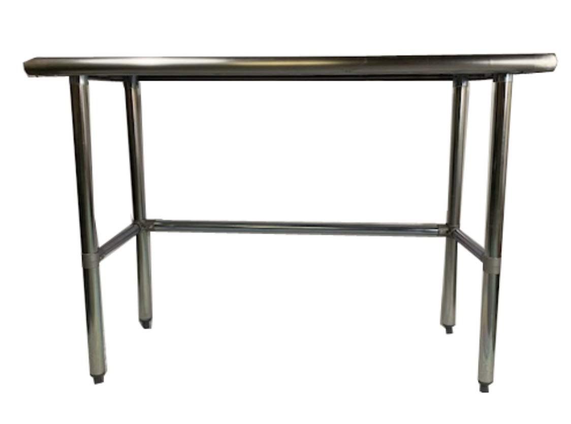 Commercial Stainless Steel Food Prep Work Table with Crossbar Open Base 24 x 48