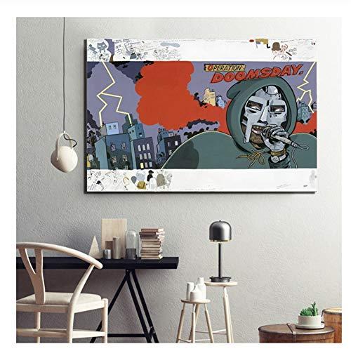 MF Doom - Daniel Dumile Super Villain Hip Hop Artist Poster Canvas Painting Home Decor Print on Canvas Wall Art -50x70cm No Frame