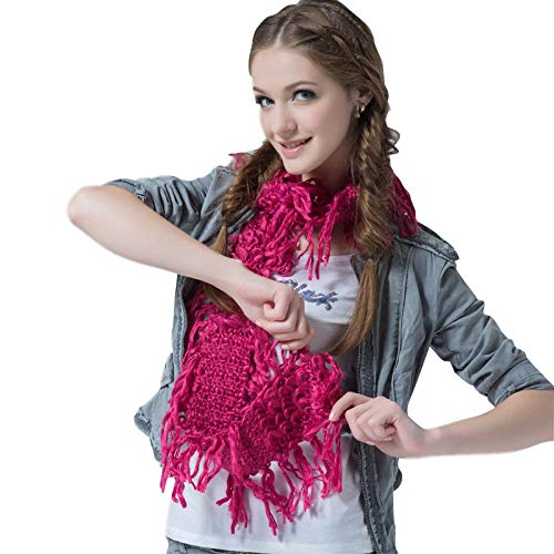 TaoRan sjaal dames herfst en winter mode persoonlijkheid warme sjaal mode breihaak bloem sjaal