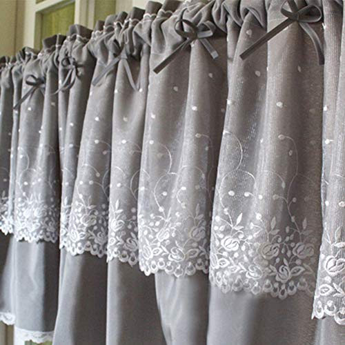 cortinas cocina cortas gris