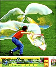 BUBBLETHING Big Bubbles Kit Includes Giant Wand, Big Bubble Mix, Tips & Tricks. Outdoor Toy for Kids, Family, All Ages. Bubbles Biggest by Far. (See Our Videos.)