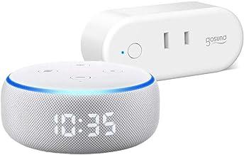 Echo Dot (エコードット)第3世代 - スマートスピーカー時計付き with Alexa、サンドストーン + ゴウサンド(Gosund) WiFi スマートプラグ gs-wp6-1-jp