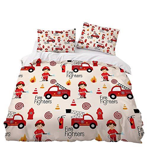 GD-SJK Juego de ropa de cama para niños, diseño de galaxia espacial, juego de ropa de cama suave, funda nórdica y fundas...