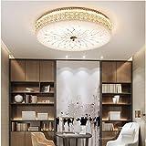 Modern Dimmbar LED Deckenleuchte Deluxe Kristall lampe Runden Design Deckenlampe Weiß Glas...