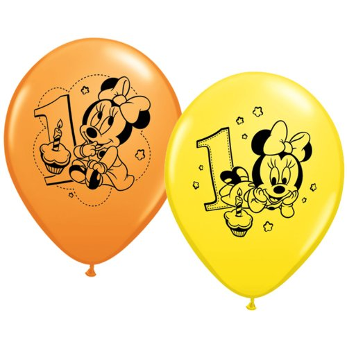 Thermos - Minnie Mouse - 1st Birthday - Pack de 6 - Ballons en Latex