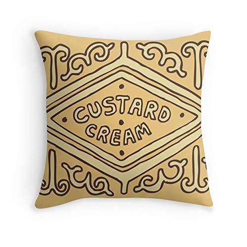 HOJJP Kissenbezug Pudding Creme Britischen Keks für Sofa Couch Wohnzimmer Bett Dekorative (Platz 20x20)