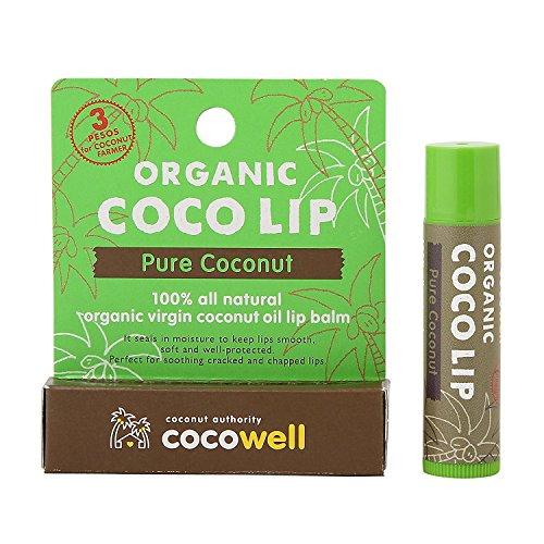 【ココウェル】オーガニック ココリップ リップクリーム 高品質バージンココナッツオイル配合 ピュアココナッツの香り
