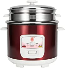 JSMY Mini cuiseur à Riz Multifonctionnel pour dortoir 1-8 Personnes,cuiseur à Riz en Acier Inoxydable 3-4-5-6L,cuiseur à S...