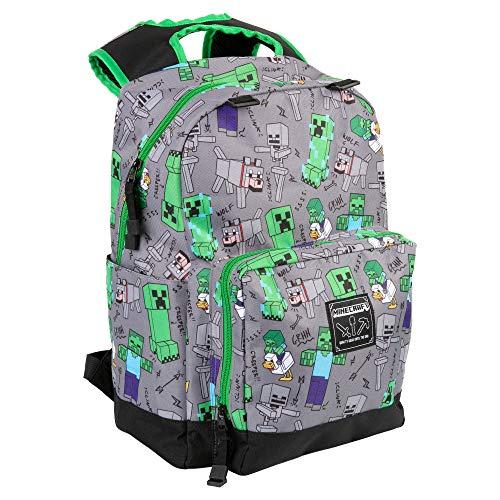 JINX Minecraft Overworld Rucksack, 43,2 cm, Grau, einheitsgröße, JX10998