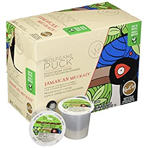 Wolfgang Puck Jamaican Me Crazy K-Cup Coffee, 96 Count Case, Compatible with All Keurig K-Cup Brewers, including Keurig 2.0, 24 Count (Pack of 4)